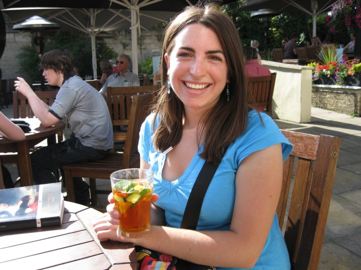 Enjoying a Pimms and Lemonade! Head of the River Pub, Oxford, England