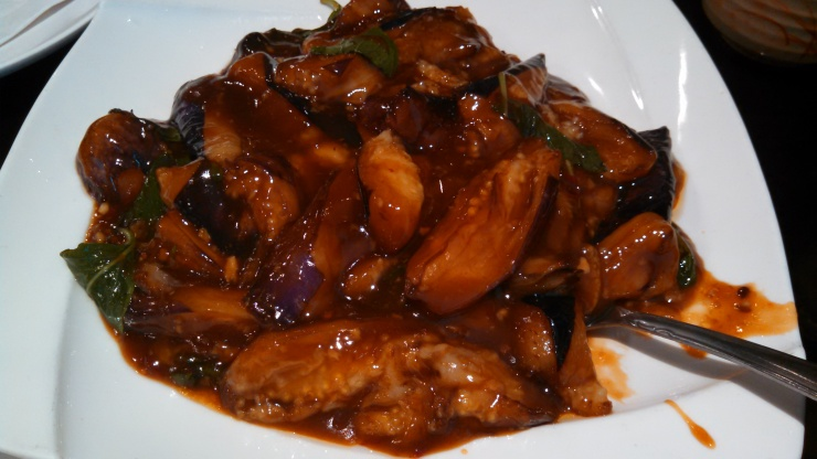 Chinese Eggplant with Basil