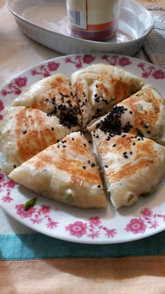 Mrs. Chang's version of scallion pancakes