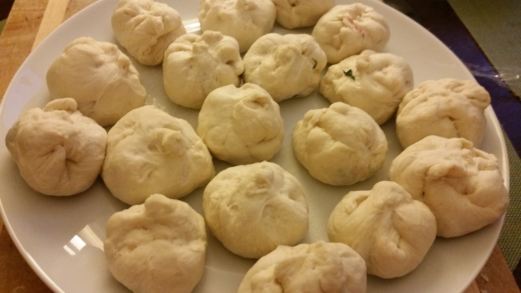 Pork Buns Ready for Steaming