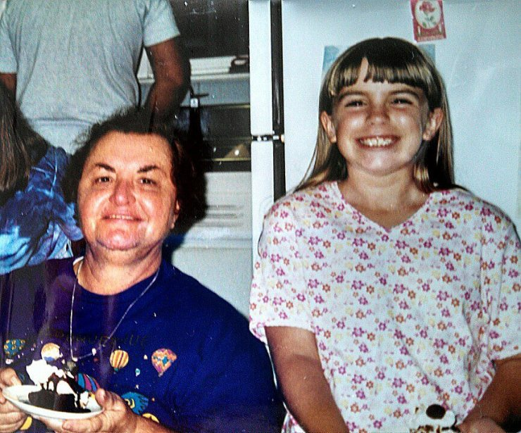 "Nonna Joanne and I, with ""The Bomb"" Ice Cream Sundae"